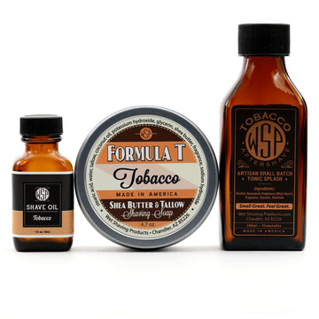 Formula T Fragrance Set (Pre Shave, Soap, & Aftershave) (Tobacco)