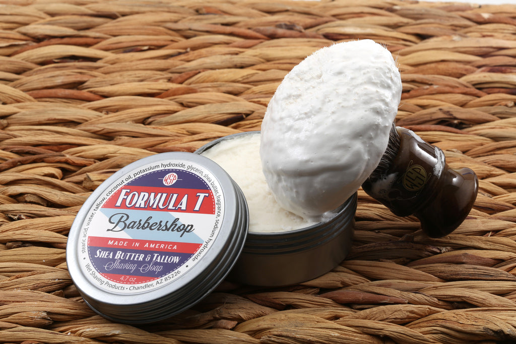 Formula T Shaving Soap 4.7 oz Made with Shea Butter & Tallow (Barbershop)