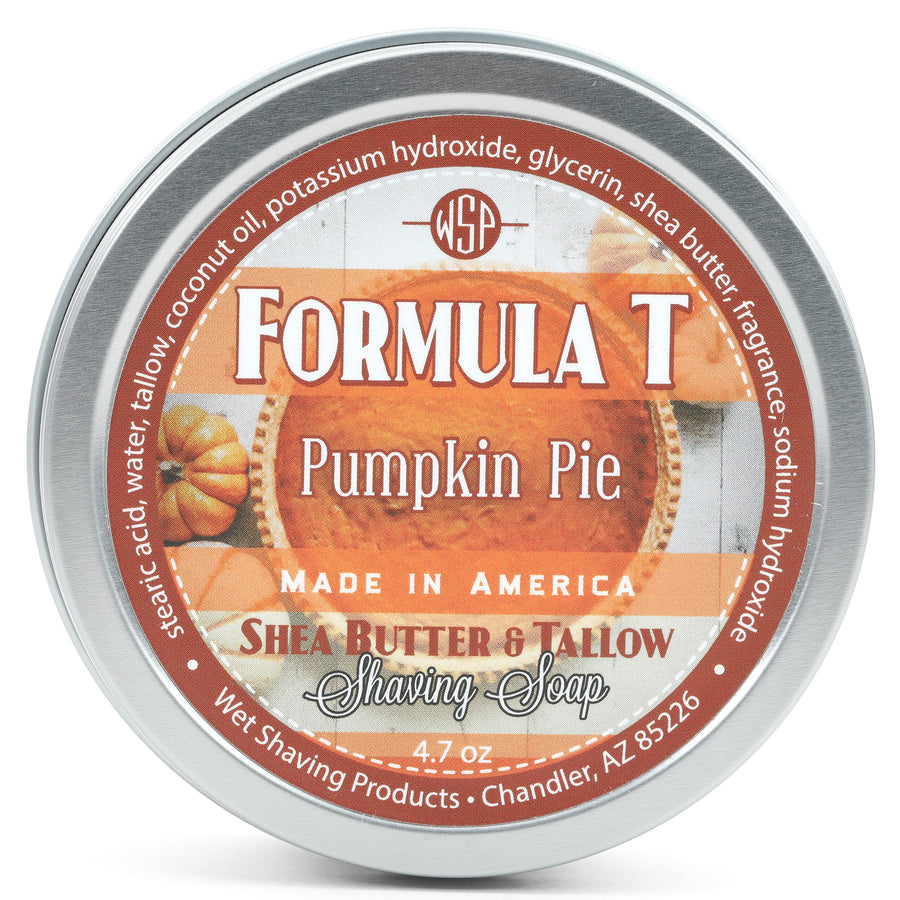 Limited Edition (Pumpkin Pie) Formula T Shaving Soap 4 fl oz Made with Shea Butter & Tallow