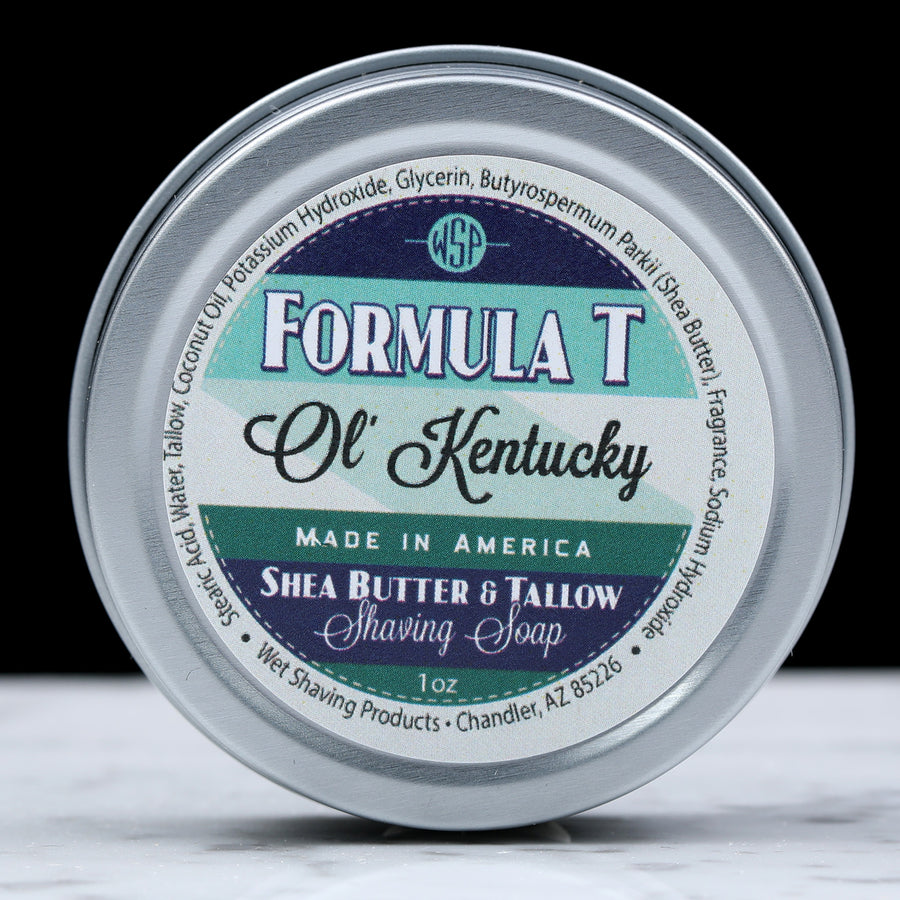 Sample/Travel Size Formula T Shaving Soap 1 Oz