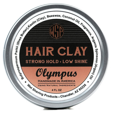 Hair Clay (Olympus) 4 oz Natural Wax Based Pomade Natural & Vegetarian
