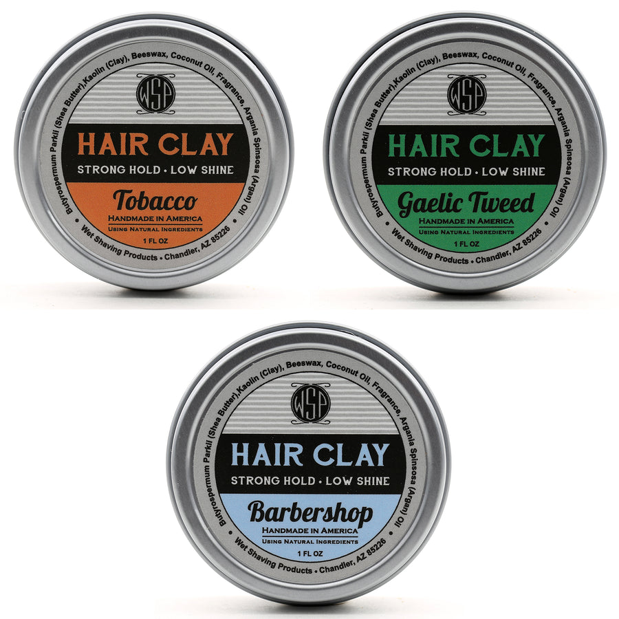 Travel Size Hair Clay (Wax Based Pomade) 1 oz