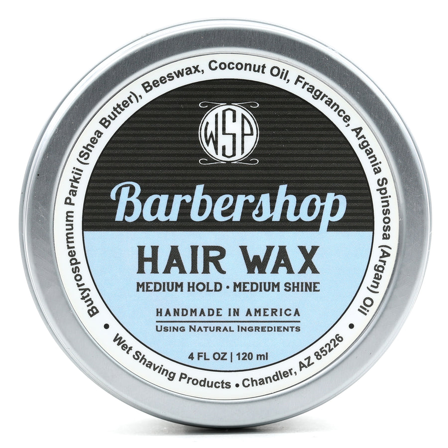 Hair Wax (Balm) - 4 oz Petroleum Free Pomade Natural & Vegetarian (Barbershop)