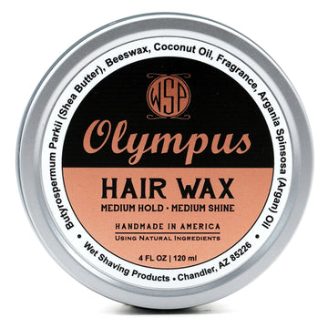 Hair Wax (Balm) - 4 oz Petroleum Free Pomade Natural & Vegetarian (Olympus)