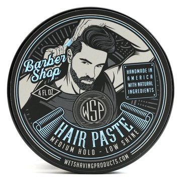 Hair Paste (Barbershop) - A Natural & Easy to Use Wax Based Hair Product - 4 oz