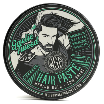 Hair Paste (Gaelic Tweed) - A Natural & Easy to Use Wax Based Hair Product - 4 oz