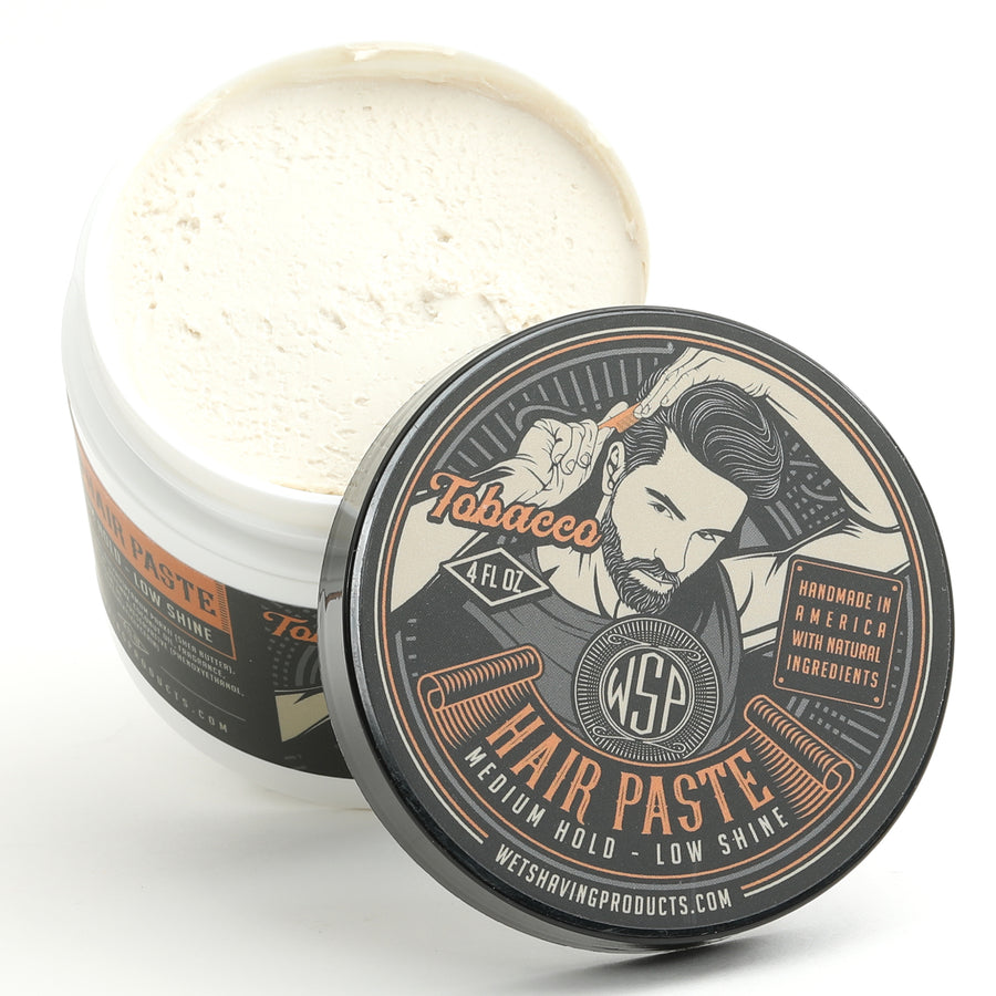 Hair Paste (Tobacco) - A Natural & Easy to Use Wax Based Hair Product - 4 oz