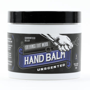 Blue Collar Hand Balm - Guaranteed Relief For Hands that Work (Unscented for Sensitive Skin)