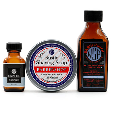 Rustic Fragrance Set (Pre Shave, Soap, & Aftershave) (Barbershop)