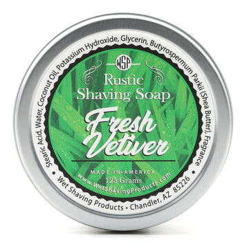Limited Edition (Fresh Vetiver) - Rustic Shaving Soap Vegan & Natural 4.4 oz; 125 g