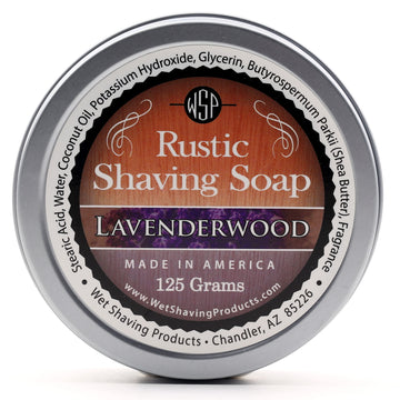 Rustic Shaving Soap Vegan & All Natural 4.4 oz; 125 g (Lavenderwood)