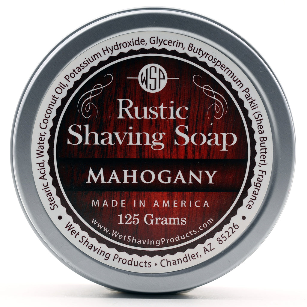 Rustic Shaving Soap Vegan & All Natural 4.4 oz; 125 g (Mahogany)