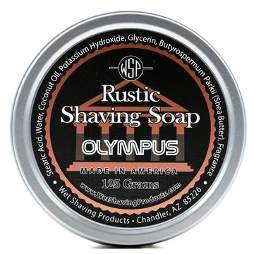Rustic Shaving Soap Vegan & All Natural 4.4 oz; 125 g (Olympus)