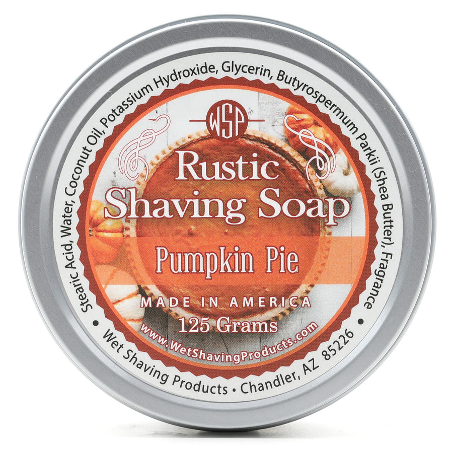 Limited Edition (Pumpkin Pie) - Rustic Shaving Soap Vegan & Natural 4.4 oz; 125 g