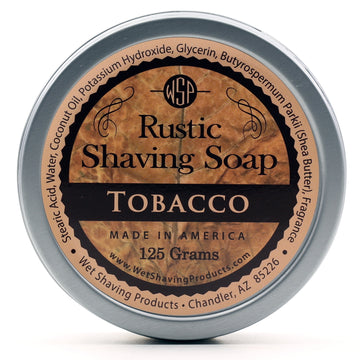 Rustic Shaving Soap Vegan & All Natural 4.4 oz; 125 g (Tobacco)