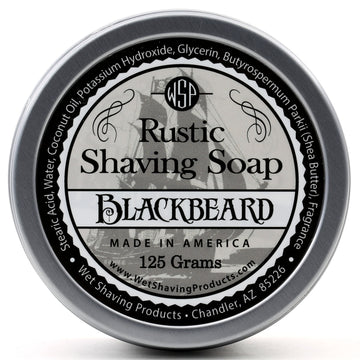 Rustic Shaving Soap Vegan & All Natural 4.4 oz; 125 g (Blackbeard)