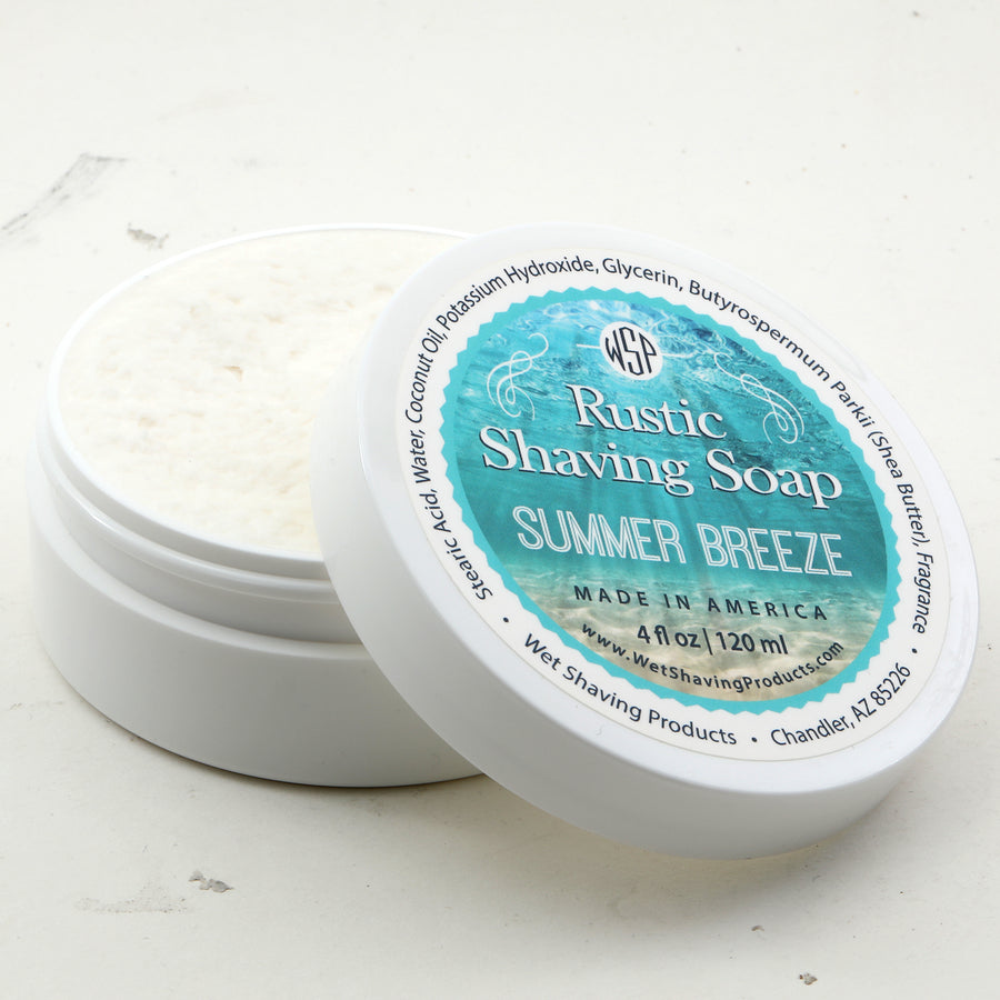 Limited Edition - Summer Breeze - Rustic Shaving Soap Vegan & All Natural 4.4 oz; 125 g