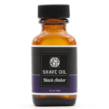 Pre & Post Shave Oil - Natural, Vegan, & Simple (Black Amber Vanille)