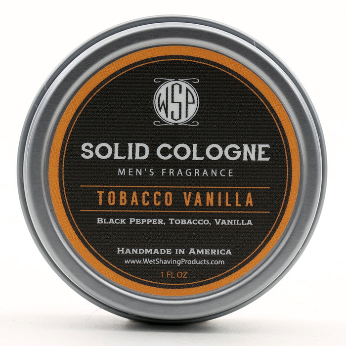 Solid Cologne Signature Scent - Tobacco Vanilla 1 oz in tin