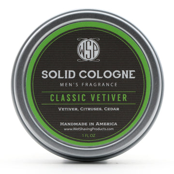 Solid Cologne EdP Strength Signature Scent - Classic Vetiver 1 oz in tin