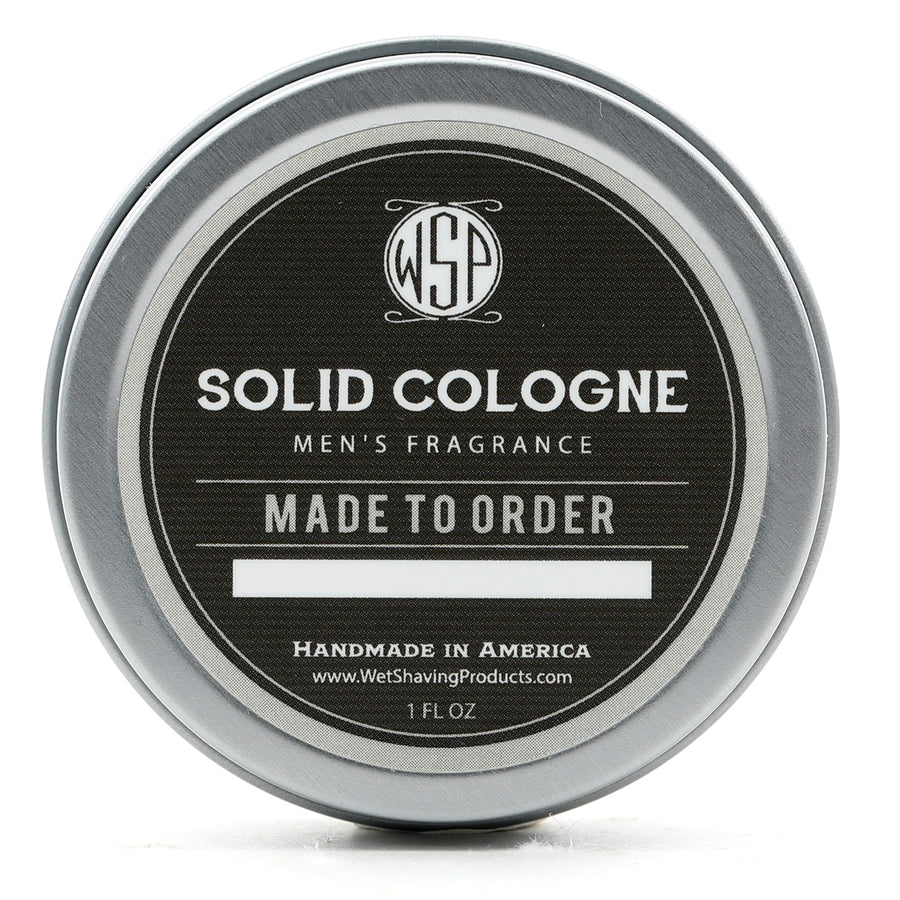 Solid Cologne EdP Strength (Scented to Order) 1 oz in tin