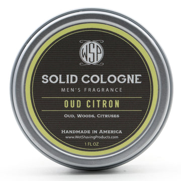 Solid Cologne EdP Strength Signature Scent - Oud Citron 1 oz in tin