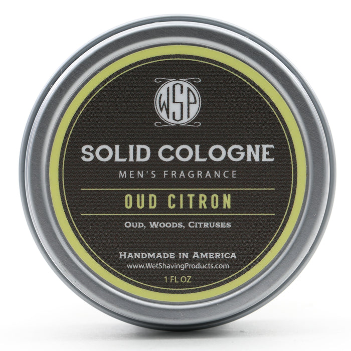 Solid Cologne Signature Scent - Oud Citron 1 oz in tin