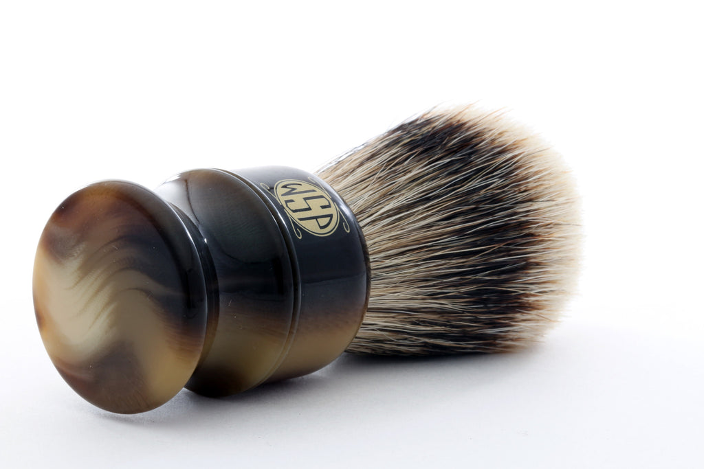 "WSP ""Stubby"" Extra Dense High Mountain White Shaving Brush (Large 26mm)"