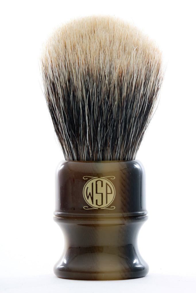"WSP ""Stubby"" Extra Dense SuperFine 2 Band Badger Shaving Brush (Large 26mm)"