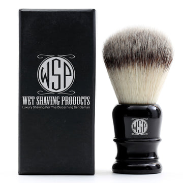 WSP Synthetic Silvertip Shaving Brush (Black)