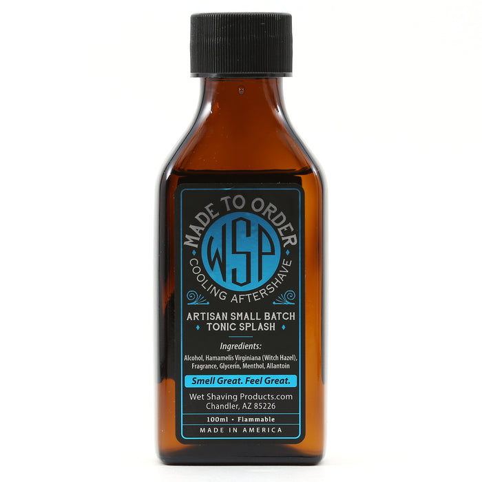 Cooling (Mentholated) WSP Small Batch Artisan Aftershave Tonic Splash 100ml (Scented to Order)