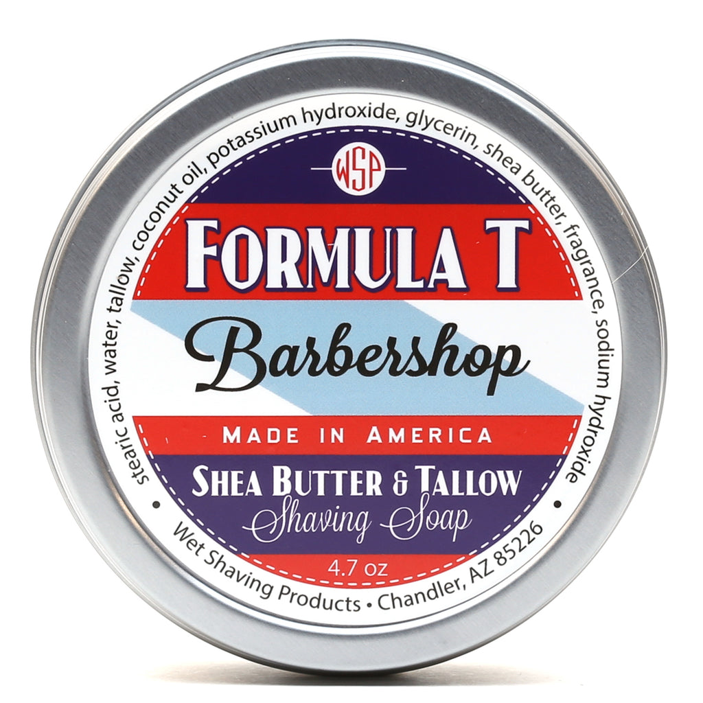 Formula T Shaving Soap 4.7 oz Made with Shea Butter & Tallow