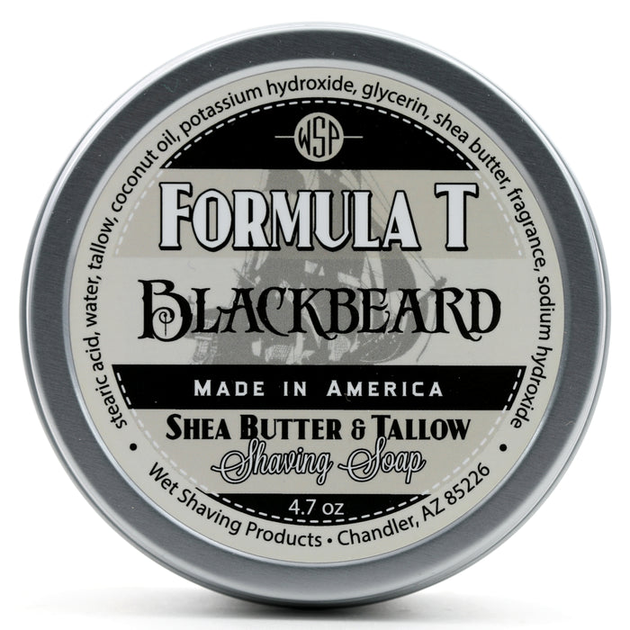 Limited Edition Blackbeard Formula T Shaving Soap 4.7 oz Made with Shea Butter & Tallow
