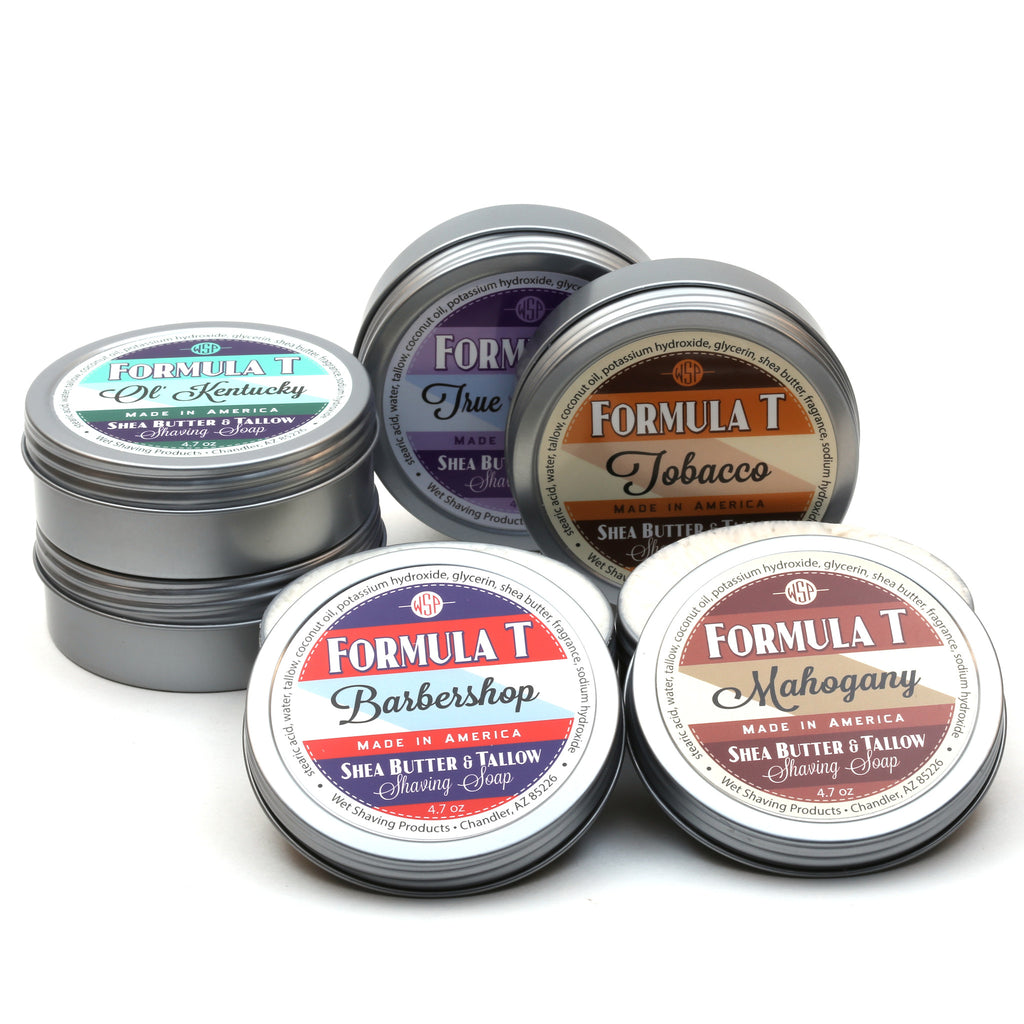 DENTED TIN Formula T Shaving Soap 4.7 oz