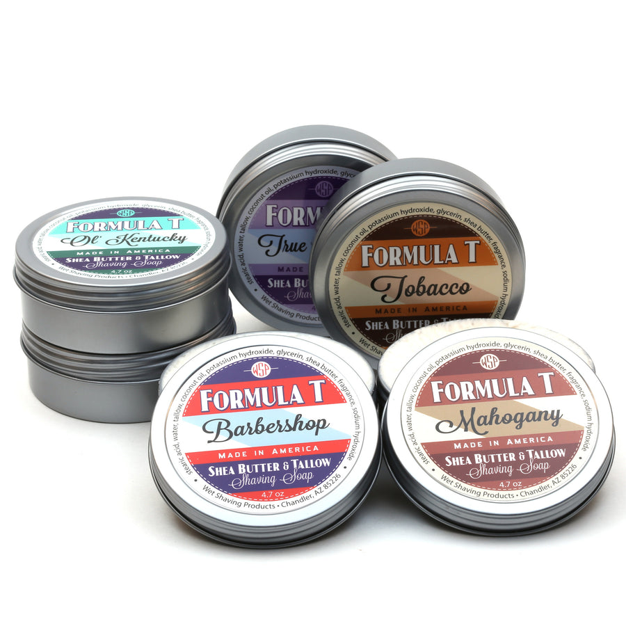 DENTED TIN Formula T Shaving Soap 4.7 oz FINAL SALE