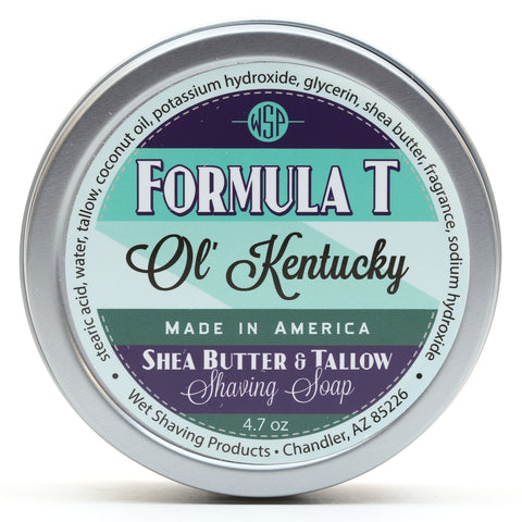 Formula T Shaving Soap 4.7 oz Made with Shea Butter & Tallow (Ol' Kentucky)