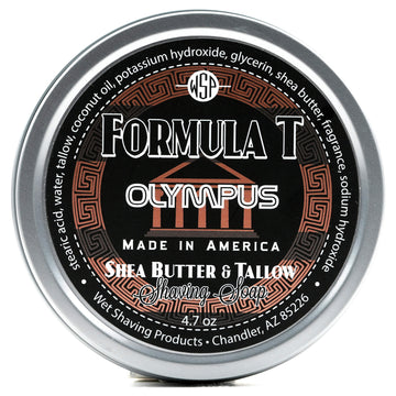 Formula T Shaving Soap 4.7 oz - Shea Butter & Tallow (Olympus)