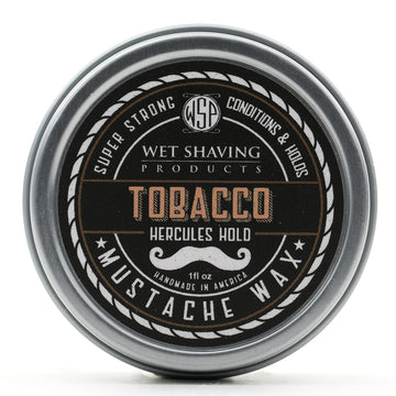 Mustache Wax Hercules Hold by WSP - 1 oz (Tobacco) Natural & Vegetarian