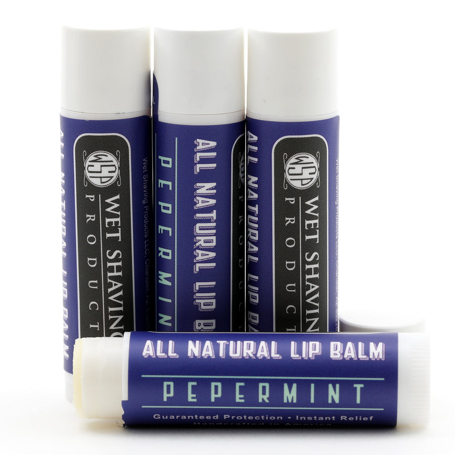 Blue Collar Lip Balm - All Natural Relief for Chapped Lips - Peppermint Flavored