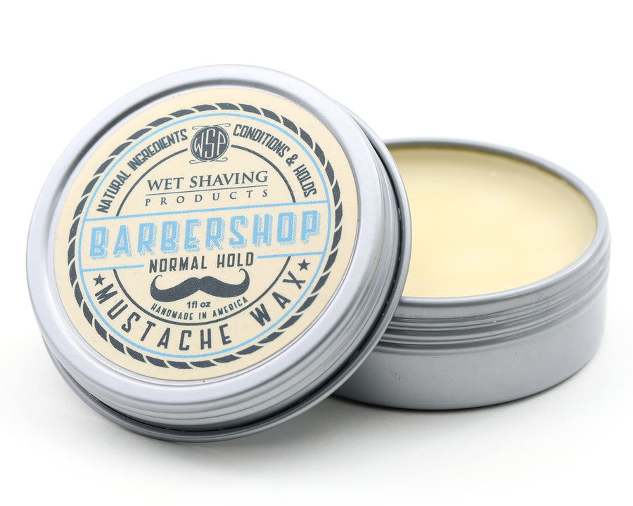 Mustache Wax Regular Hold by WSP - 1 oz (Barbershop) Natural & Vegetarian