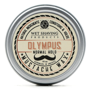 Mustache Wax Regular Hold by WSP - 1 oz (Olympus) Natural & Vegetarian