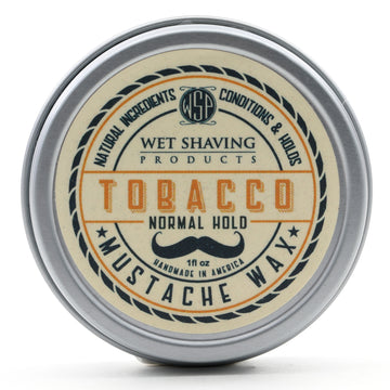 Mustache Wax Regular Hold by WSP - 1 oz (Tobacco) Natural & Vegetarian
