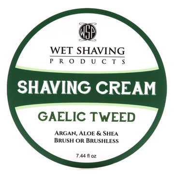 Shaving Cream 7.44 oz (Gaelic Tweed) Featuring Argan & Aloe