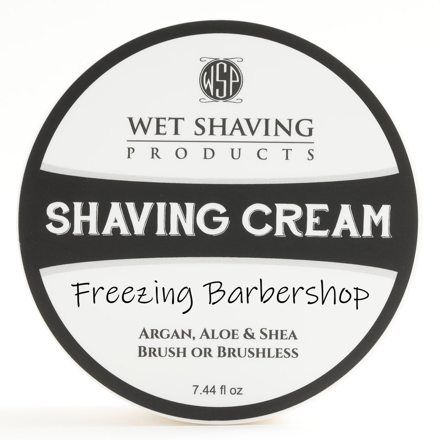 Limited Edition Shaving Cream 7.44 oz - Freezing Barbershop (Cooling) - Featuring Argan & Aloe