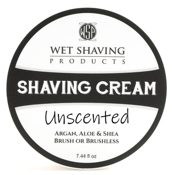 Shaving Cream 7.44 oz (Unscented) Featuring Argan & Aloe