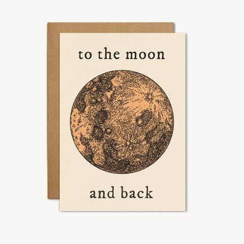 To The Moon And Back Card