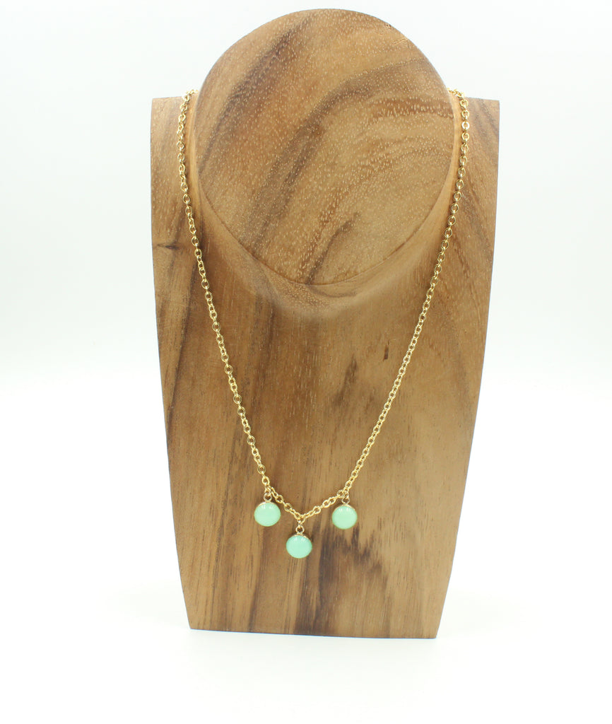 Nora Necklace- Chrysoprase