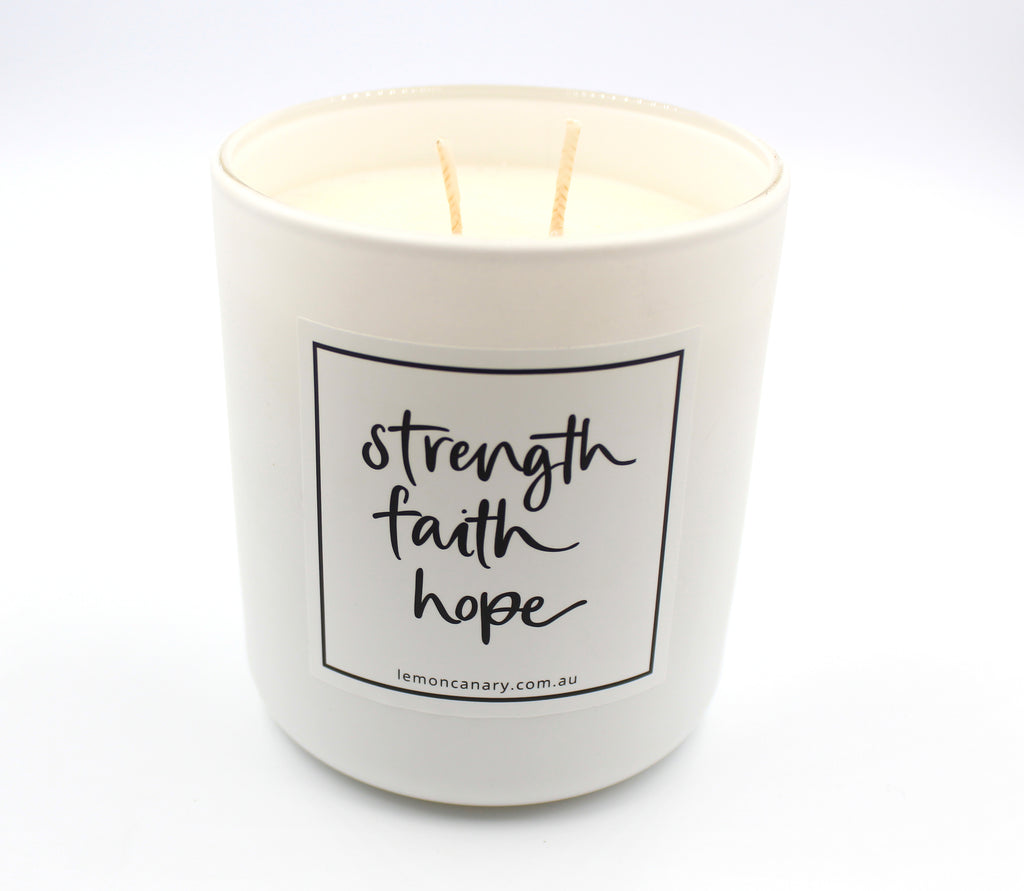 Strength Faith Hope Candle