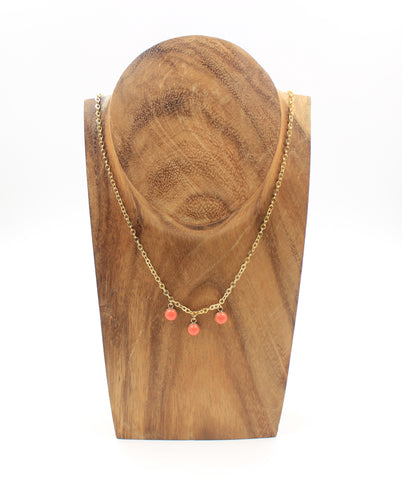 Nora Necklace- Salmon Coral