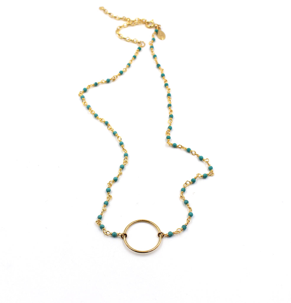 Tali Necklace- Turquoise